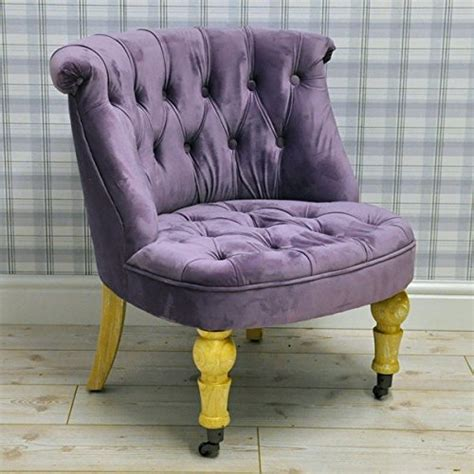 vintage style purple velvet upholstered button  bedroom sofa occasional accent chair