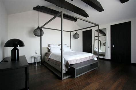 salon cuisine americaine appartement moderne aménagé dans les combles d un immeuble