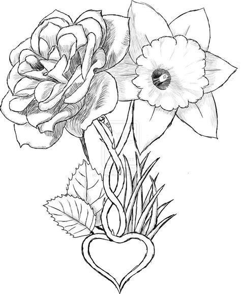 Carnation Rose Daffodil Marigold Tattoo