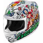 Icon Helmet Motorcycle Lucky Airmada Face Lid