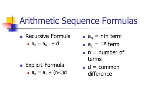 arithmetic sequences in an arithmetic sequence the