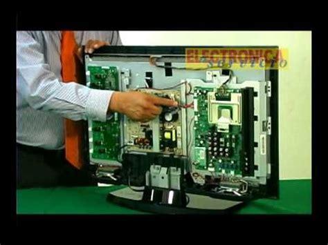 de como reparar un tv de lcd debido a problemas con la fuente de poder capacitores