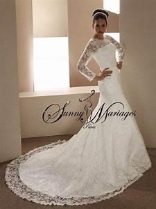 robe de mariee avec manche sunny mariage With robe de mariée sirene dentelle manche longue