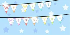 We Will Miss You : we will miss you bunting we will miss you bunting display ~ Orissabook.com Haus und Dekorationen