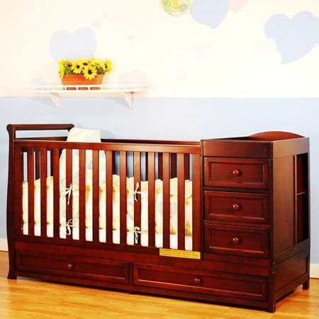 crib and changer combo afg baby furniture 2 in 1 convertible crib cherry