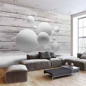 Papier Peint Effet Lambris : papier peint 3d cr ant un effet abstrait et trompe l il ~ Zukunftsfamilie.com Idées de Décoration