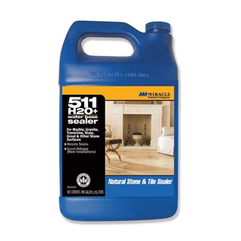 511 h2o plus sealer miracle sealants h2o pl gal sg 511 h20 plus water based penetrating sealer gallon tooomashanniahz