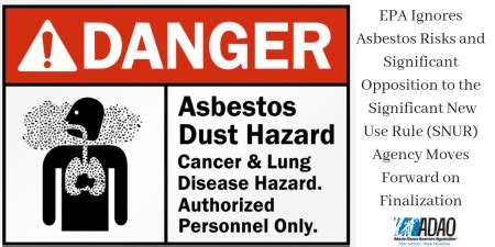 epa ignores asbestos risks  significant opposition