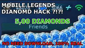 DIAMONDS HACK NO NEED TO DOWNLOAD MOBILE LEGENDS 100