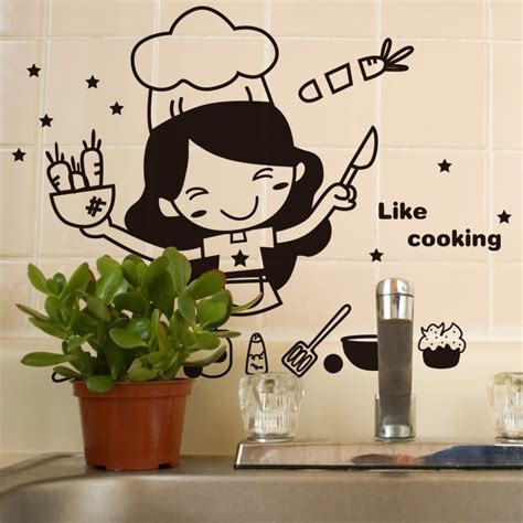 sticker cuisine kitchen like cooking wall sticker wall