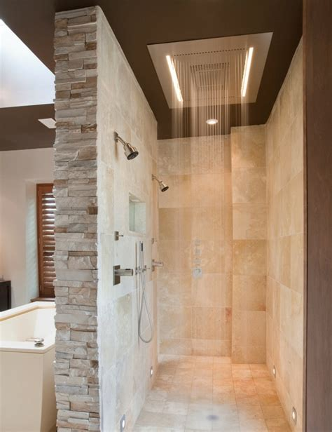 small ensuite bathroom renovation ideas doorless shower designs teach you how to go with the flow
