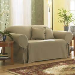 sure fit cotton duck sage sofa slipcover walmart com