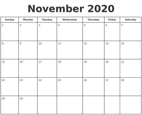 november  print  calendar
