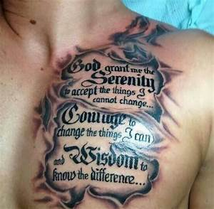50 Inspirationa... Chest Tattoo Love Quotes