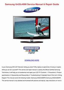 Samsung Un32c4000 Service Manual Repair Guide By