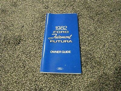 ford fairmont futura owners guide manual original oem
