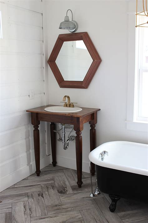 diy farmhouse bathroom vanities  white buffalo