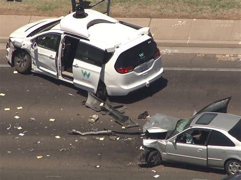 Waymo Selfdriving Car Crashes In Arizona Wkbwcom