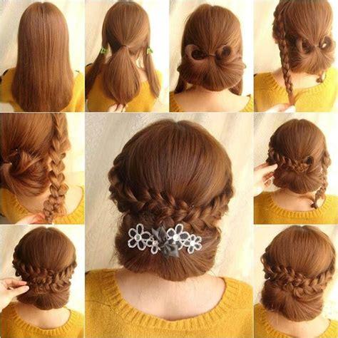 girls elegant braids hairstyle fashion style
