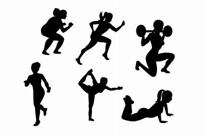 Active Silhouettes Woman Svg Craft Drawings Fabrica