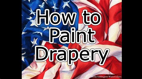 How To Paint Drapery  American Flag Youtube