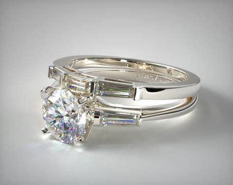 tapered baguette wedding 18k white gold 1715014201w