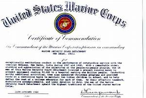 1968 cmc certificate of commendation to the msg detachment for Certificate of commendation usmc template