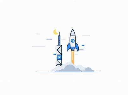 Motion Graphics Animation Project Software Rocket Launching