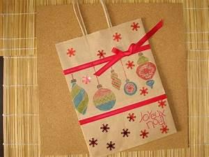 Sac Papier Kraft Deco : noel sac cadeau en papier kraft d cor sur le th me de no l emballages cadeaux par ~ Dallasstarsshop.com Idées de Décoration