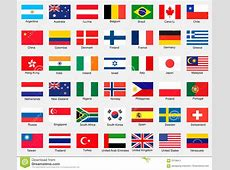 Collection Of Flags Stock Illustration Image 70708411