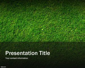 grass background powerpoint template