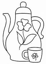 Coloring Tea Coloring2print sketch template