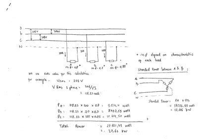 Thread Calculations For Three Phase Power