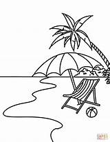 Beach Line Drawing Coloring Clipartmag sketch template