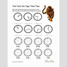 Learning To Tell Time  Worksheet Educationcom