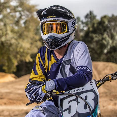 scott motocross gear new scott sports 2017 mx 350 race blue white dirt
