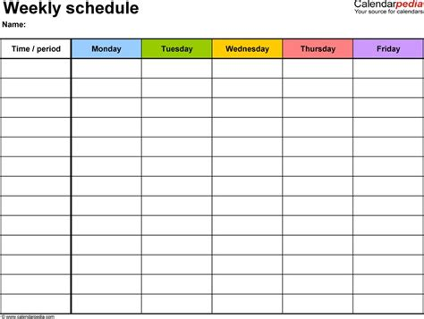 cute class schedule maker printable receipt template