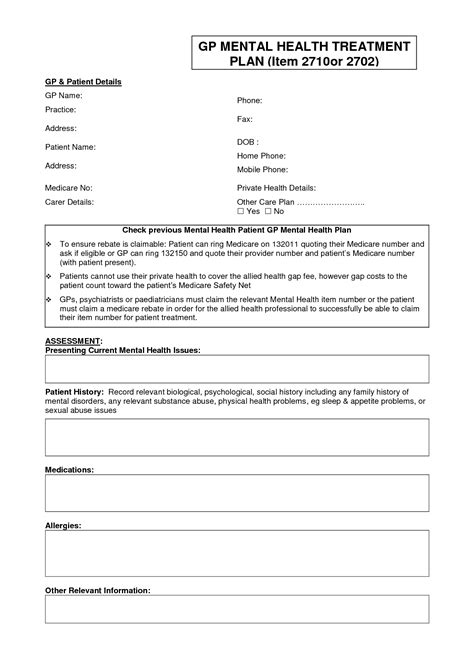 mental health safety plan template best photos of writing mental health treatment plans mental health treatment plan template