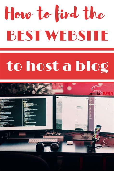tips  find   website  host  blog public