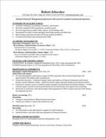 free templates resume writing sle resume template