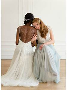 quotleontinequot bijou de dos amovible pour robe dos nu so helo With robe fourreau combiné avec collier swarovski mariage