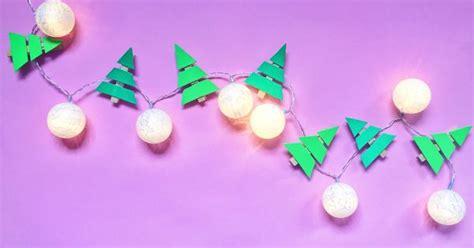 lichterkette selber machen weihnachtsdeko basteln happy dings