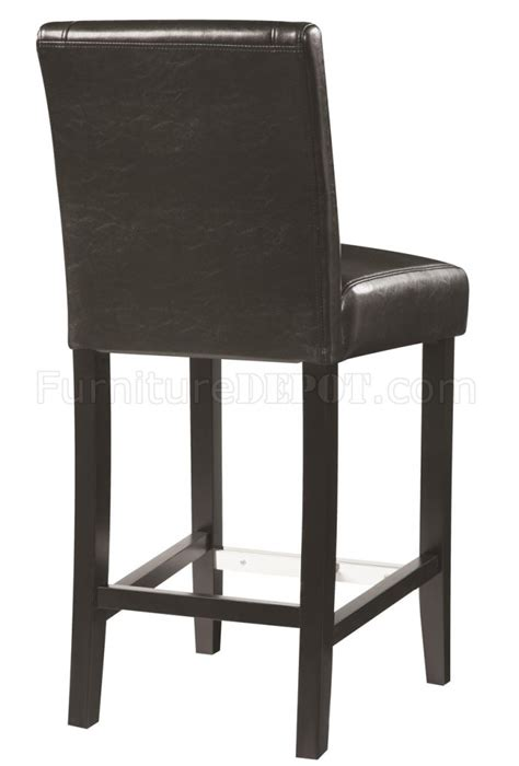 Counter Height Chairs Set Of 4 by 130064 Counter Height Chair Set Of 4 Black Leathette By
