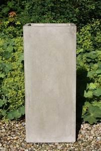Pflanzkübel Beton Hoch : 2er set pflanzk bel blumenk bel aus beton block 100 cm natur ~ Whattoseeinmadrid.com Haus und Dekorationen