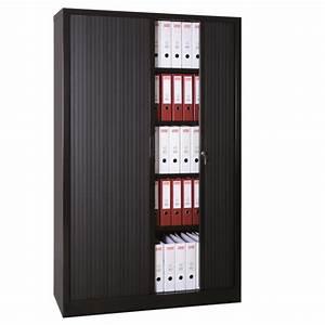 Armoire De Rangement Bureau : armoire haute rideaux coulissants armoires de bureau axess industries ~ Melissatoandfro.com Idées de Décoration