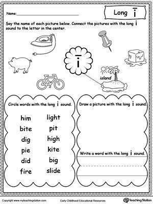 Long I Sound Worksheet  Long Vowels, Printable Worksheets And Worksheets