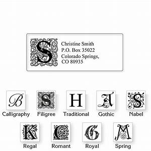 clear initial classic return address labels colorful images With clear monogram return address labels