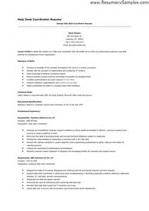 help desk resume skills cover letter it help desk resume sles free technical