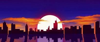 Sunset Sun Vector 4k 1080p Reflection Background