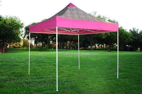 amazoncom  pop   wall canopy party tent gazebo ez pink zebra  model upgraded frame